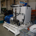 Press control hydraulic unit for insulating panels laboratory