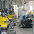 Installations on-board the machine on presses for the automotive sector